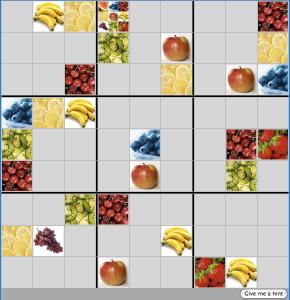 fruit-sudoku