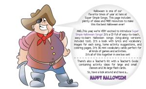Super Simple Halloween Songs Pirate Blurb