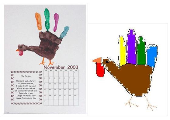That whole year handprint calendar |