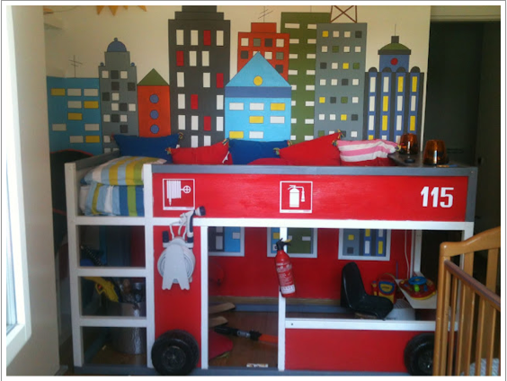 Ikea hacks kura beds and the fire engine - Ikea fire truck bed ...