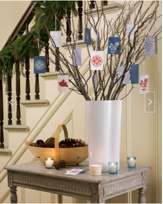 Martha Stewart Recycled Holiday Cards Good Wish Tree