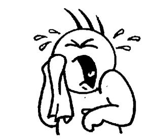 EFL Clipart Cry