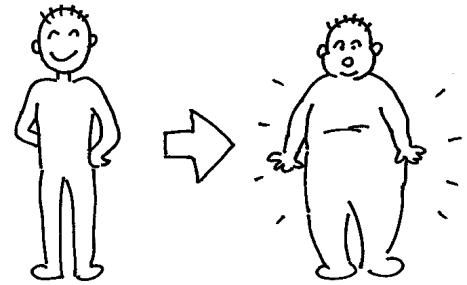 EFL Clipart Gain weight