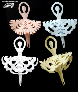 Krokotak Snowflake ballerinas for little hands