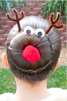 Princess Piggies Holiday Hairstyles Rudolph