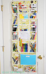A Bowl Full of Lemons Over Door School Supplies Organizer