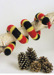 Fave Crafts Crocheted Colorful Coral Snake