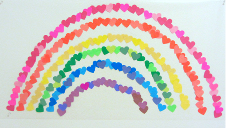 No Time for Flashcards Valentines Day  Rainbow Wall