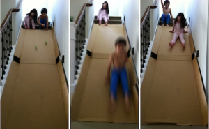 The Contemplative Creative Kids Project Cardboard Slide