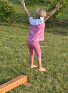 In Lieu of Preschool Homemade Balance Beam