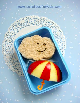 Cute Food For Kids Apple Umbrella