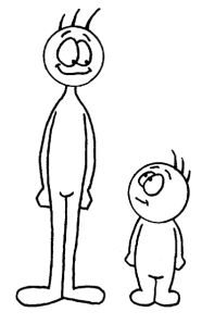 EFL Clipart Tall and Short