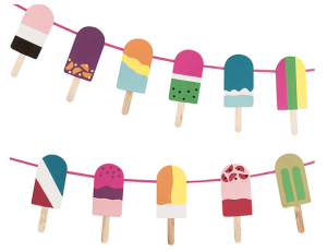 Paper Source: Popsicle Garland